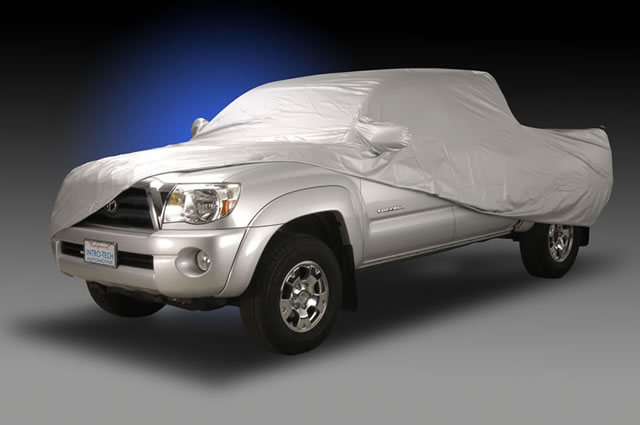 Toyota truck being covered