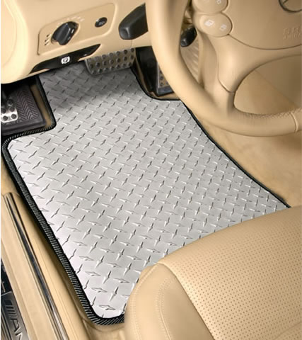 Front Diamond Plate Floor Mat