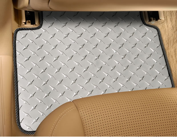 Rear Diamond Plate Floor Mat